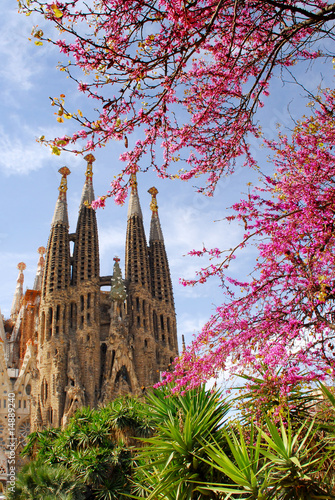 Photo  sagrada familia barcelona spain
