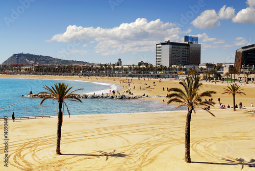 Papiers peints Barcelona Barcelona beach spain
