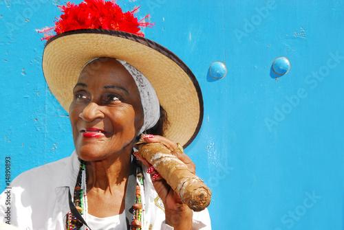 plakat cigar lady in havana cuba