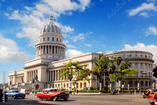 Capitolio building in Havana Cuba Canvas Print