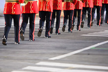 Legs Of British Military Band