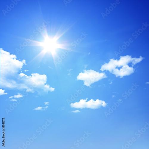 Fotografie, Obraz  Sonne über den Wolken