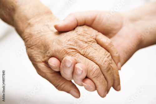 Fotografie, Obraz  adult helping senior in hospital