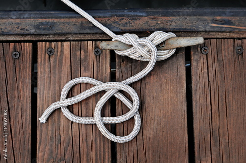 White Boat Rope Canvas