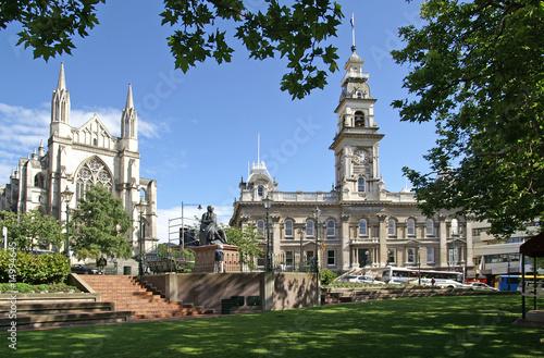 Deurstickers Nieuw Zeeland The Octagon, center of Dunedin, New Zealand