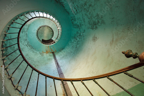 In de dag Vuurtoren lighthouse staircase