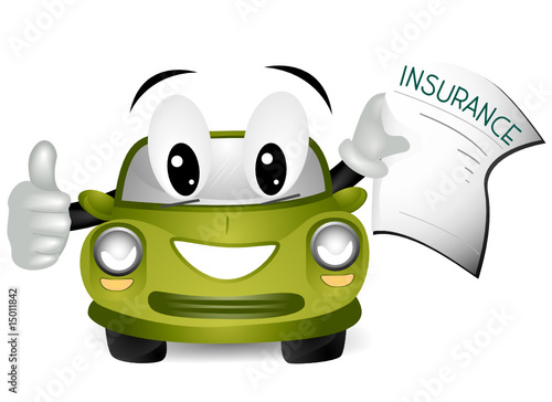 Spoed Foto op Canvas Cartoon cars Car Insurance