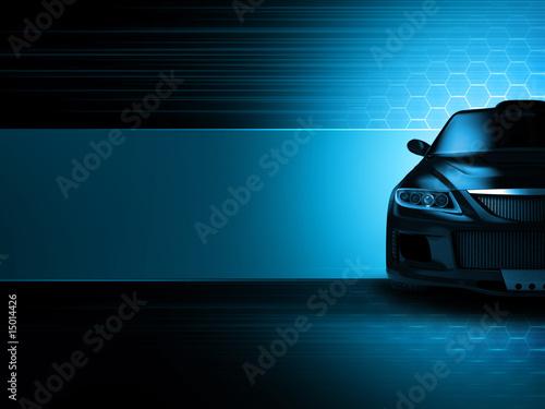 Photo  Sport car background