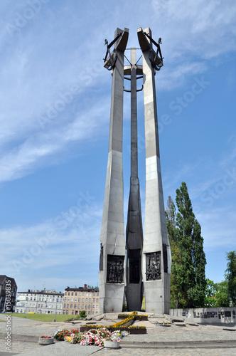 Fototapeta pomnik stoczniowców w gdańsku obraz