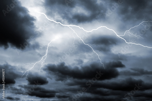 Fotografie, Obraz  Double lightening strike