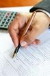 Filling a tax form