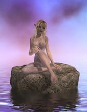 Siren Sitting On A Rock