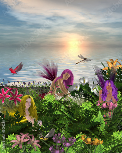 Canvas Prints Fairies and elves Flower Fairies