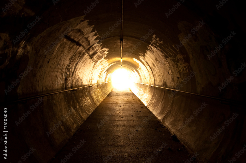Fototapeta light at the end of the tunnel