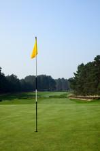 Flag On A Golf Field