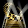 golden laurel wreath monument