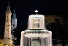 Brunnen An Der Universität LMU