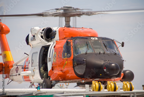 Coast Guard Jayhawk Rescue Helicopter Canvas Print