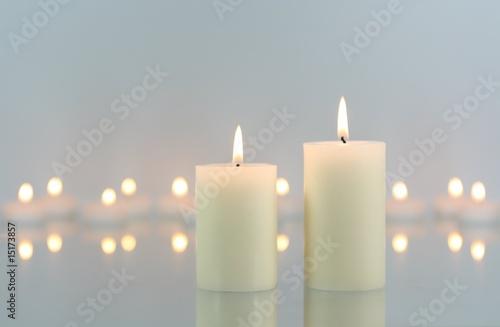 Akustikstoff - Weiße Kerzen