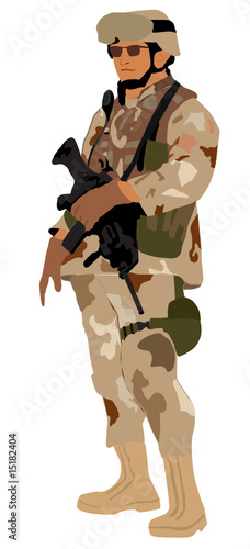 Deurstickers Militair military soldier