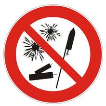 Feuerwerk Verboten