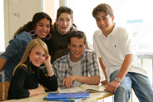 Photo  élèves en classe