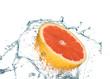 canvas print picture - Grapefruit unter der Dusche