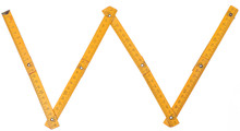 Old Yellow Ruler Forming Font Symbol W
