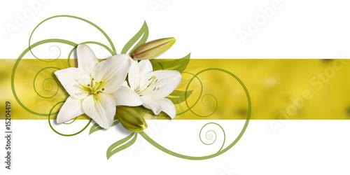 Plakat dekoracja lillies na sztandarze