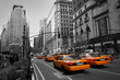 canvas print picture - Taxies in Manhattan