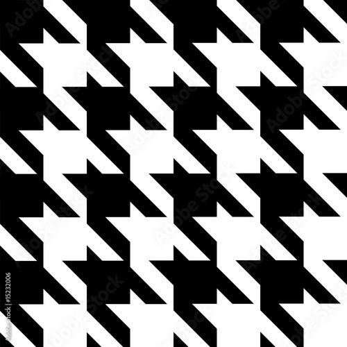 Photo  seamless modern houndstooth pattern