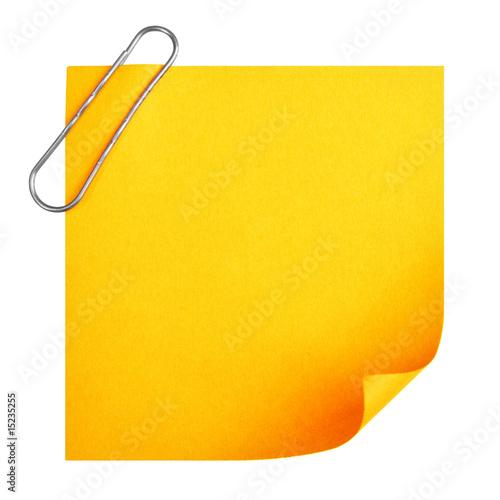 Blank paper with clip Tapéta, Fotótapéta