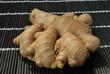 Ginger on bamboo mat