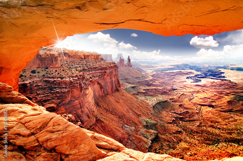 Spoed Foto op Canvas Baksteen Heavenly view of world