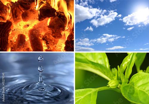 Fotografie, Obraz  I quattro elementi