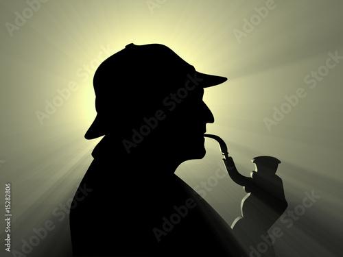 Fotografie, Obraz  detective_silhouette