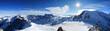 canvas print picture - Mont Blanc & Mer de Glace von der Aiguille du Midi