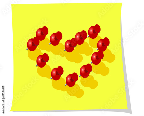 Heart with pins as a concept of love - Buy this stock vector
