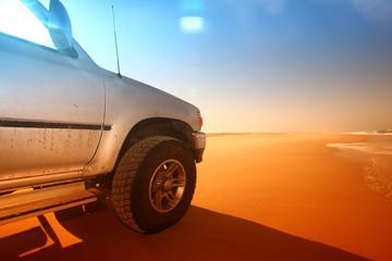 Fototapeta na wymiar desert truck