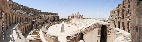 Photo sur Toile Tunisie Amphitheatre of El Jem Tunisia