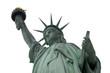 White Sky Statue of liberty