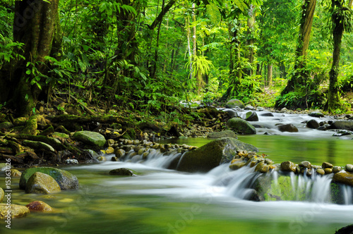 Fotoposter Rivier Mountain stream