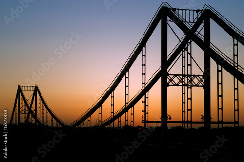Bridge on sunrise background