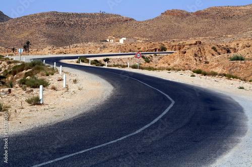 Keuken foto achterwand Route 66 Tunezyjska droga