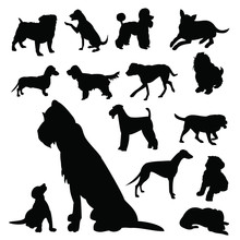 Lots Of Dog Silhouettes