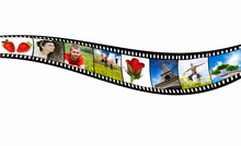 Film Strip With Vacation Photos