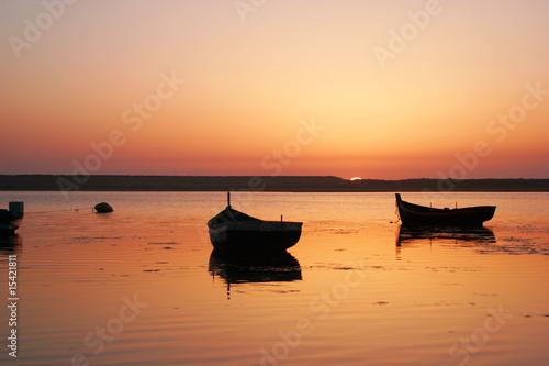 Foto-Schiebegardine Komplettsystem - A beautiful Sunset