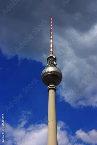 Foto-Fahne - Fernsehturm in der Mitte von Berlin (von AnjaSybille)