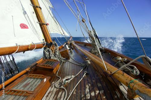 Segeln auf einer klassischen Yacht
