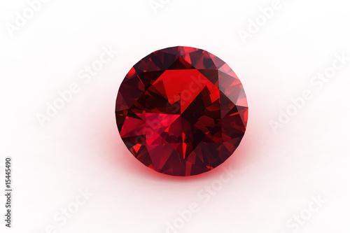Fotografía  Round Euro Cut  Ruby Gemstone